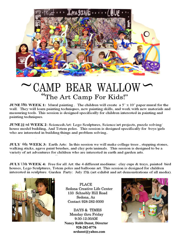 Camp Bear Wallow flyer