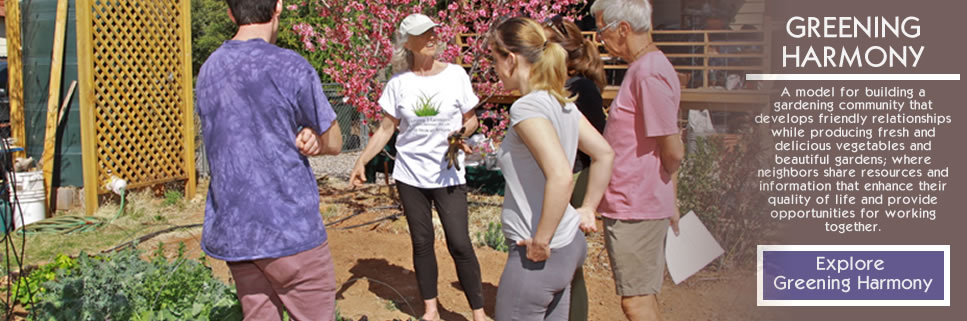 HOME GARDENS + WELLNESS PROGRAM: Greening Harmony